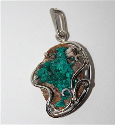 Amazon dioptase pendant dioptase necklace pendant silver dioptase pendant dioptase necklace pendant silver pendant emerald green crystal pendant collector aloadofball Choice Image