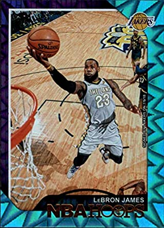 75fdbc7486a5 2018-19 NBA Hoops Teal Explosion  82 LeBron James Los Angeles Lakers  Official Trading