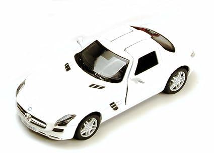 Amazon Com Mercedes Benz Sls Amg White Kinsmart 5349d 1 36