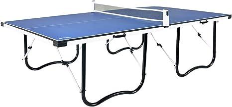 WIN.MAX 9FT Mesa de Tenis de Mesa, Mesa de Ping-Pong Plegable con Marco de Perfil de Metal en Forma de U y Red Ajustable 274L x 152W x 76H cm Azul: Amazon.es: