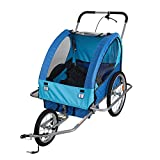 Lucky Tree Pet Dog Bike Trailer Bicycle Trailer Stroller Jogging w/Suspension(Blue)