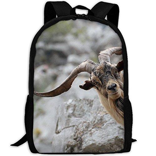 CY-STORE Goat Horns Outdoor Shoulders Bag Fabric Backpack Multipurpose Daypacks For Adult (Daypack Bag Horn)