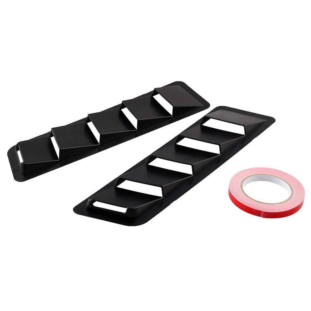 1 Pair Louvers Cooling Panel Bonnet Cover Universal Car Hood Vents Auto Air Flow Intake Scoop Bonnet Side Fender Vent Hood