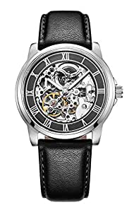 Kenneth Cole New York Men's KC1514 Automatic Gunmetal Silver-Tone Watch With Leather Band