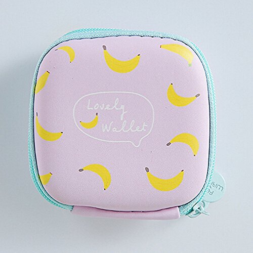 Pink Case Headphone Storage Bag Cards Earphone Portable JESPER Storage Round Blue Mini B for wS7fp