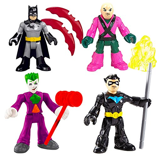 Fisher-Price Imaginext DC Super Friends, Heroes & Villains Pack (4 Figure Set) (Heroes Figure Pack)