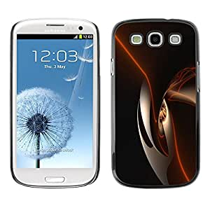 Paccase / SLIM PC / Aliminium Casa Carcasa Funda Case Cover para - Black Shiny Dark Smooth - Samsung Galaxy S3 I9300