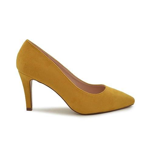 1dfac70f Zapato de salón Suede Mostaza: Amazon.es: Zapatos y complementos