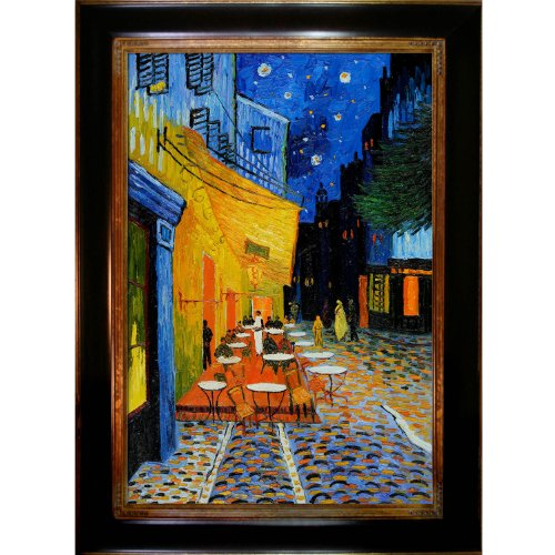 Terrace Framed Canvas (overstockArt Vincent Van Gogh Cafe Terrace at Night 24-Inch by 36-Inch Framed Oil on Canvas)
