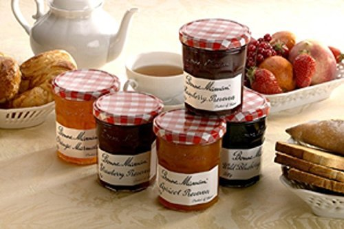 Bonne Maman Assorted 1 oz - Strawberry, Apricot, Raspberry, Orange, Cherry, Honey, Grape, Blueberry - 8 jars (Jelly Mini)