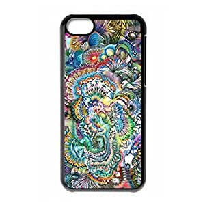 Hard back shell with Fantasy Trippy and moon logo for iPhone 5C