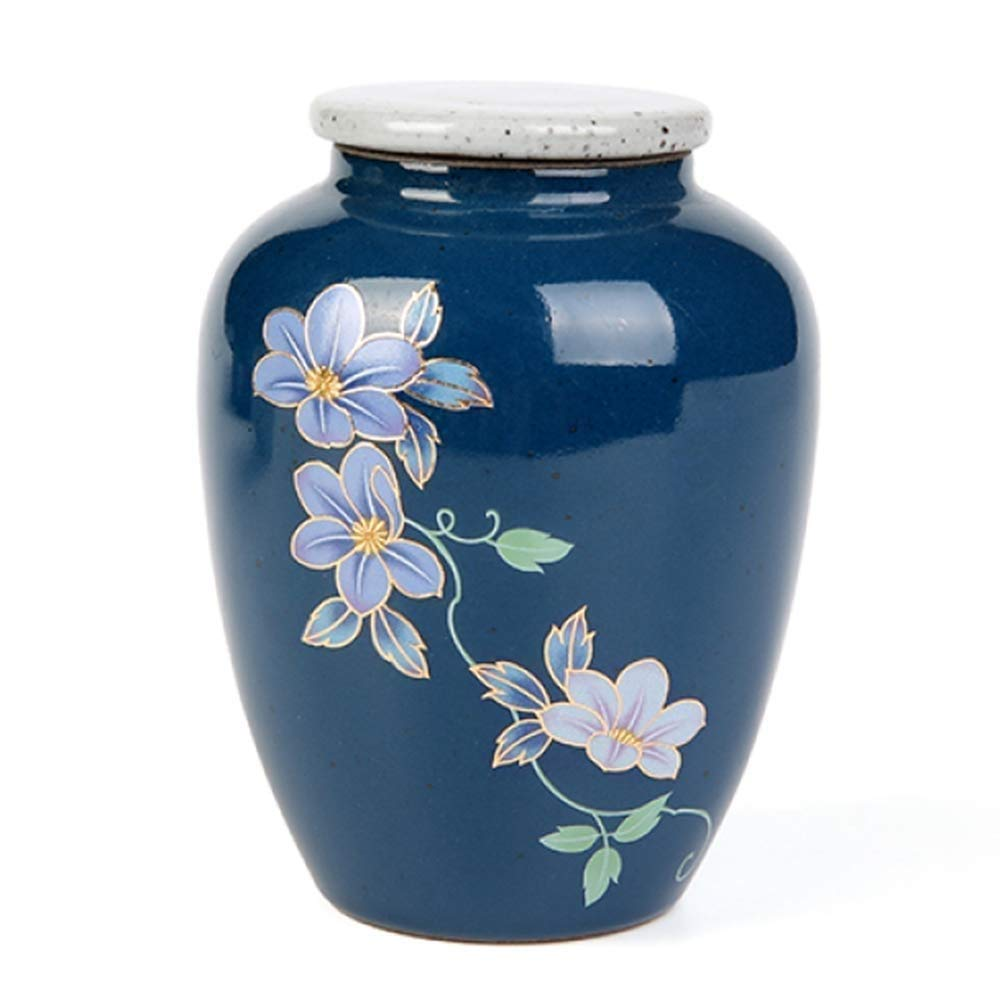 ZAQXSW SmartChoice Royal Marble Blue Cremation Urn for Human Ashes - Affordable Funeral Urn Adult Urn for Ashes Handcrafted Urn (Adult) (Color : Blue) by ZAQXSW