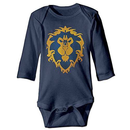 QGQChao Baby Onesie Alliance Logo – World of Warcraft Baby Bodysuit Long Sleeve