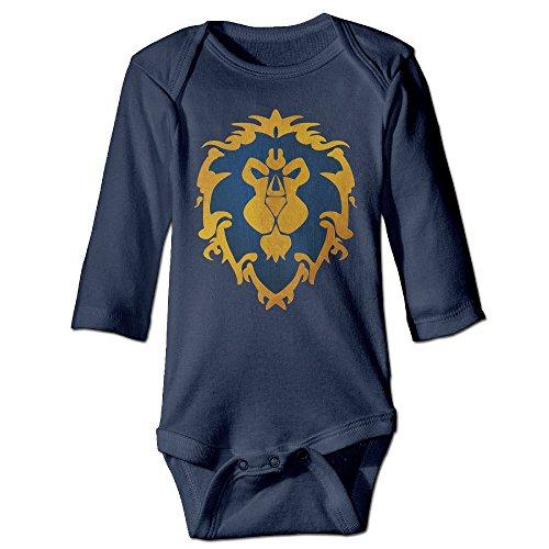 QGQChao Baby Onesie Alliance Logo – World of Warcraft Baby Bodysuit Long Sleeve
