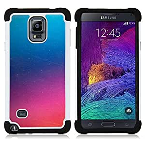- pink glass fog purple mysterious/ H??brido 3in1 Deluxe Impreso duro Soft Alto Impacto caja de la armadura Defender - SHIMIN CAO - For Samsung Galaxy Note 4 SM-N910 N910