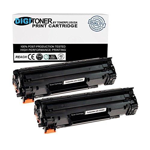 JSL 2 PK CB435A 35A Black CE285A Toner Cartridge For HP LaserJet P1005 P1006 Printer