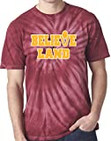 "The Silo MAROON TIE-DYE Cleveland The Land ""Believe Land"" T-Shirt"