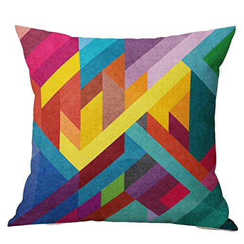 huoaoqiyegu Hot! Creative Multicolor Pattern Throw Pillow Covers Sofa Bed Home Decor
