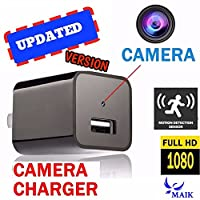 MAIK UBS Hidden Camera Charger | 2in1 Charger & Hidden Camera With Audio | Nanny Cam | Baby & Pet Monitoring Hidden Spy Camera USB | Motion Detection |32GB Included |1080P HD|