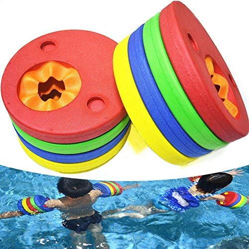 Flytoup Arm Floats for Kids Safe Detachable Swimming Training Equipment Swim Band Easily Learn to Swim Colorful 8PCS Swim Discs in Pool Lake Ocean