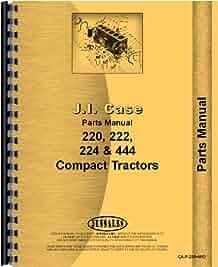 case 222 lawn garden tractor parts manual sn 9736998 14036630 rh amazon com Case 220 Muffler Case 222 Mower