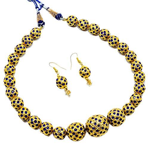 silvesto Inde Saphir (créé) Collier Plaqué or Boucles d'oreilles pour filles et femmes pg-24325