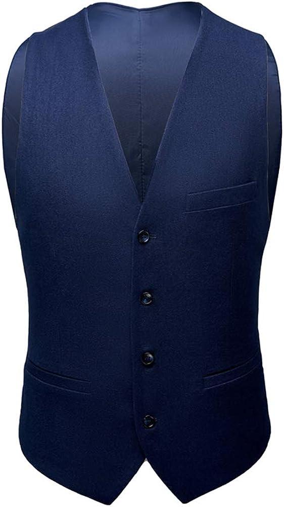 Mens 3 Pieces Suits Formal Business Suit Black Dark Blue Tuxedo Jacket Waistcoat Trouser