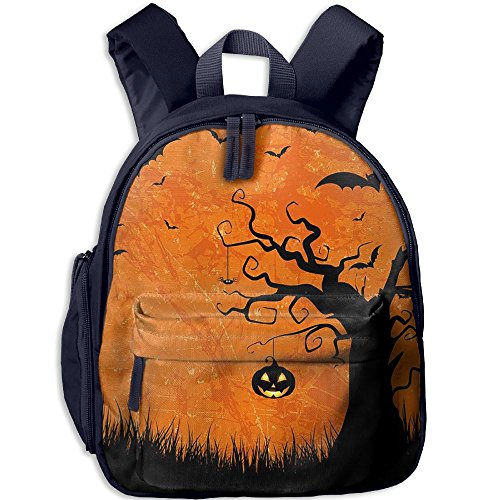 HUEH Outdoor Evil Halloween Night Kids Snack Backpack School Book Bags Gift For Toodle Teen Boys (Halloween Snacks For Toddlers)