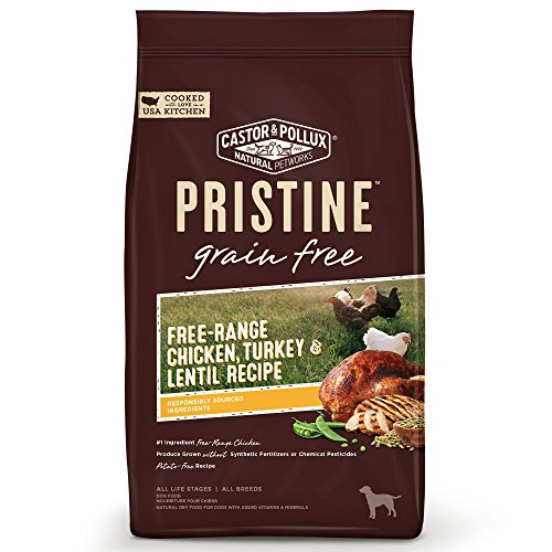 Castor & Pollux Pristine Free-Range Chicken Turkey & Lentil Recipe Dry Dog Food, 4 lb -