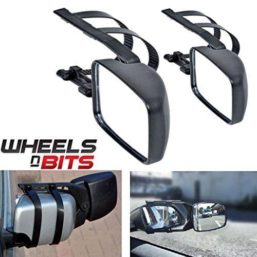 2 x Caravan Towing Mirror Extension Car Wing Mirrors for Mitsubishi Outlander Shogun Wheels N Bits