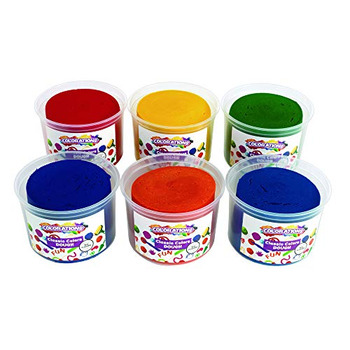 Resealable Tub - Colorations Classic Color Dough, 18 Pounds, 6 Bright Colors, Non-Toxic, Resealable Tubs, Soft, Pliable, Non-Crumble, Modeling, Moldable, Sensory, Smooth, for Home, School, Daycare, STEM