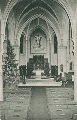 Historic Pictoric Postcard Print | Trinity Lutheran Church, Staten Island, N.Y. [int. view of altar], | Vintage Fine Art
