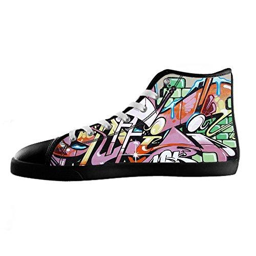 Da Women's Canvas Graffiti Custom Alto Delle Lacci Ginnastica Tetto Scarpe I Shoes n8OATT5F7q