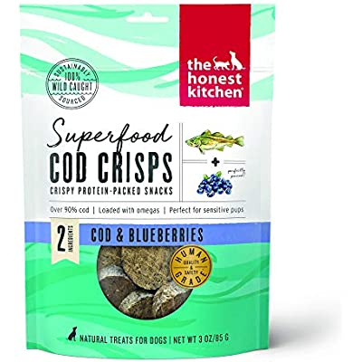 The Honest Kitchen Superfood Cod Crisps for Dogs - Cod & Blueberry 3oz