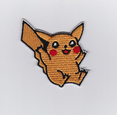 (PIKACHU POKEMON JAPANESE MANGA - Iron on Patches/Sew On/Applique/Embroidered 2.2