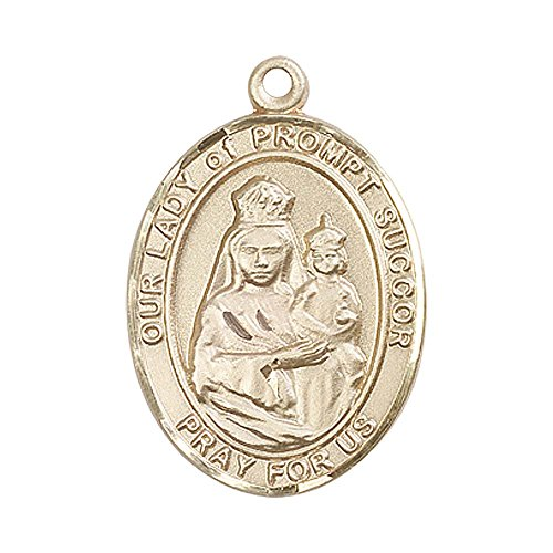 14kt Gold Our Lady of Prompt Succor Medal. Patron Saint of New Orleans, LA (Our Lady Of Prompt Succor New Orleans)