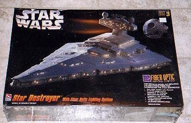 - Star Wars Star Destroyer AMT Model with Fiber Optic Lighting System by AMT Ertl