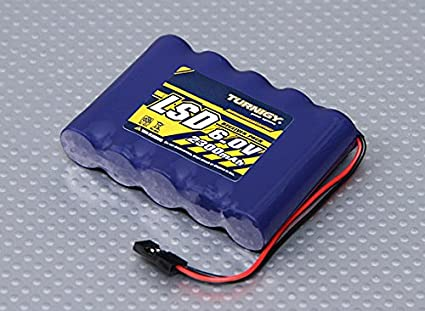 amazon com turnigy receiver pack 2300mah 6 0v nimh toys games rh amazon com RC Receiver Battery 6 Cell NIMH Battery Pack