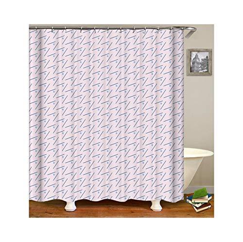 Drop Rectangular Amish - Aokarry Polyester Shower Curtain Light Purple Raindrop 66x80 ''
