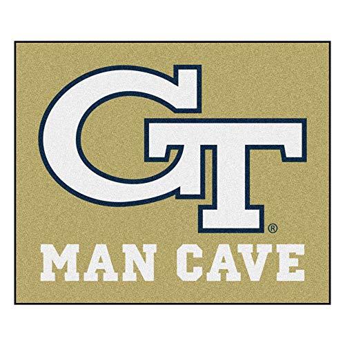 (FANMATS 14550 Georgia Tech Nylon Universal Man Cave Tailgater Rug)