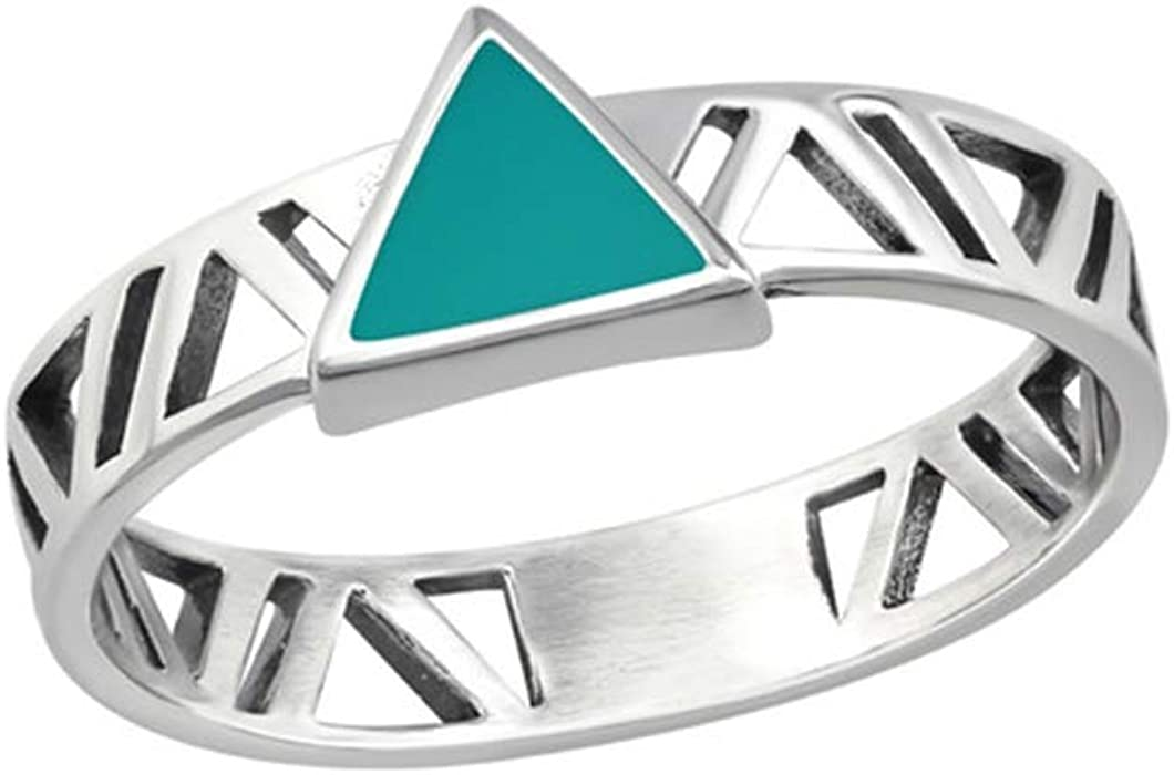Triangle Plain Rings 925 Sterling Silver Polished Nickel Free Liara