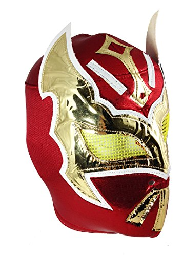 Sin Cara Wrestling Costume (SIN CARA Adult Lucha Libre Wrestling Mask (pro-fit) Costume Wear - Red)