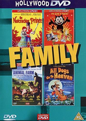 Family- The Nutcracker Prince/ Animal Farm/Felix The Cat/ All Dogs Go To Heaven (4 FILMS/2 - Dog Nutcracker