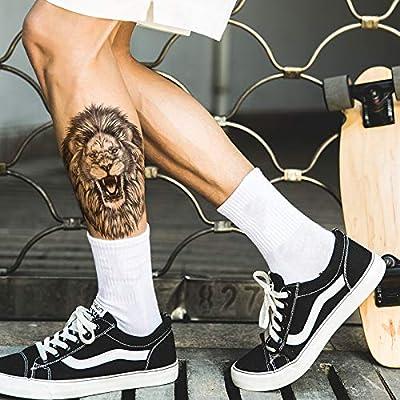 Tatuaje falso de león, tatuaje para festivales, tatuajes de fiesta ...