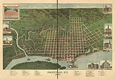 1889 Birds eye map of Paducah, Kentucky Birds eye view of Paducah, Kentucky 1889
