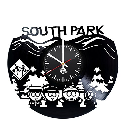 South Park Vinyl Record Wall Clock Gift For Boys and Girls Great Idea Home Decor Vintage Decoration - Buy gift for him and - South Va Park