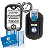 Medical Alert INFORMER USB Dog Tag - Black