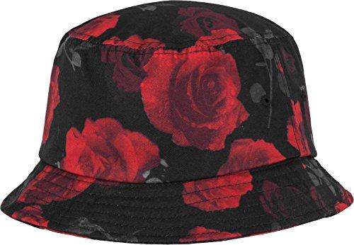 y tamaño Talla año única Colores Hat Varios Flexfit Mütze Unisex el colores Negro negro Todo Color rojo Blanco Varios Bucket Roses y YZw6wq7A