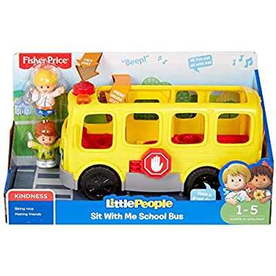 Fisher-Price Little People Sit with Me School Bus: Toys & Games