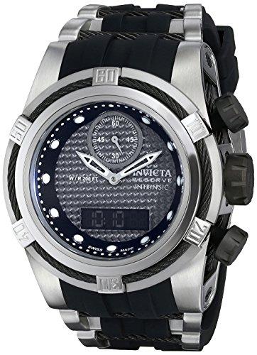 Invicta Men's 12491 Bolt Analog-Digital Display Swiss Quartz Black Watch